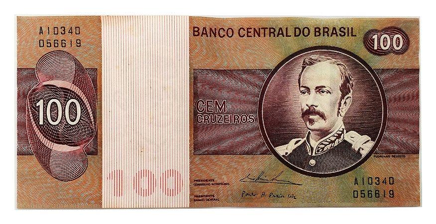 Cédula Antiga do Brasil 100 Cruzeiros 1974