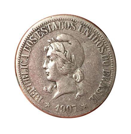 Moeda Antiga do Brasil 1000 Réis 1907