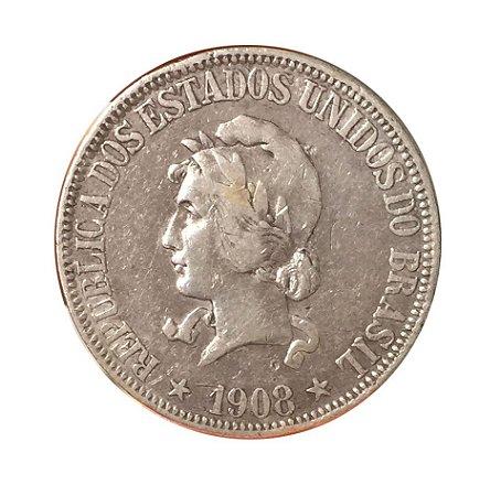 Moeda Antiga do Brasil 1000 Réis 1908