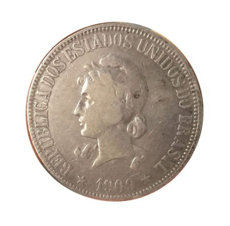 Moeda Antiga do Brasil 1000 Réis 1909