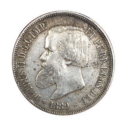 Moeda Antiga do Brasil 2000 Réis 1889