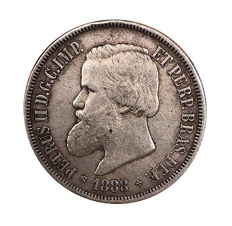 Moeda Antiga do Brasil 2000 Réis 1888