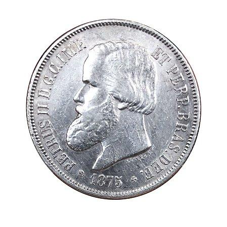 Moeda Antiga do Brasil 2000 Réis 1875 - Luster F