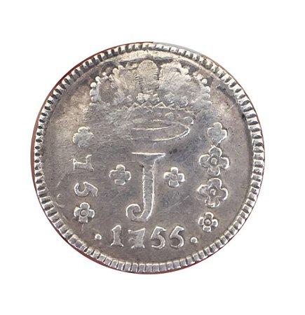 Moeda Antiga do Brasil 75 Réis 1755 R - SÉRIE J