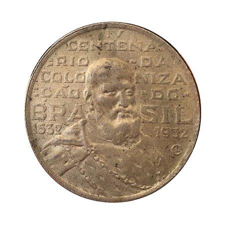 Moeda Antiga do Brasil 2000 Réis 1932  - IV Centenário da Colonização do Brasil