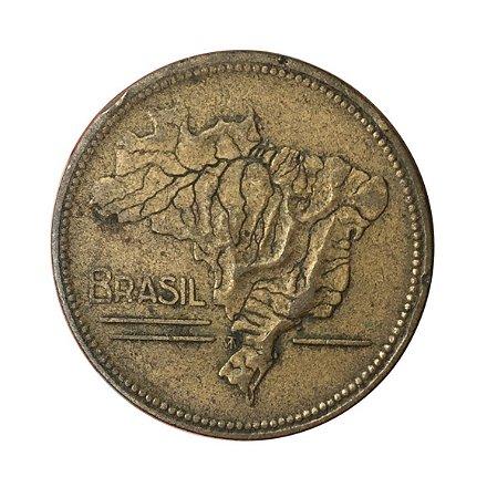 Moeda Antiga do Brasil 5 Cruzeiros 1942 - Mapa do Brasil