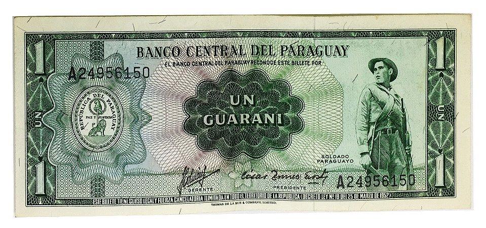 Cédula Antiga do Paraguai 1 Guarani 1952