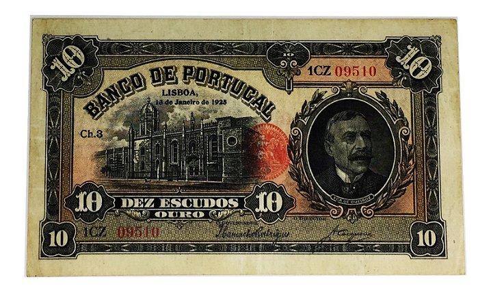 Cédula Antiga de Portugal 10 Escudos 1925