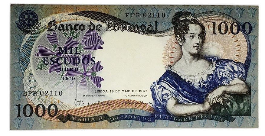 Cédula Antiga de Portugal 1000 Escudos 1967