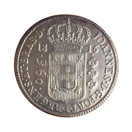 Moeda Antiga do Brasil Colônia 960 Réis 1816 B - com Dupla Batida