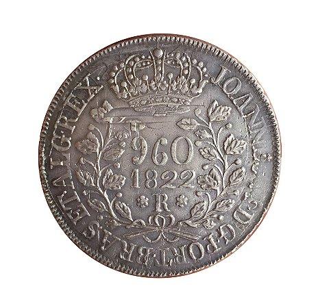 Moeda Antiga do Brasil Reino Unido 960 Réis 1822 R