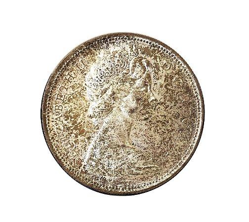 Moeda Antiga do Canadá $1 1966 PÉROLAS GRANDES