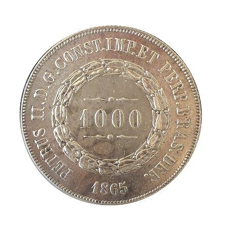Moeda Antiga do Brasil 1000 Réis 1865
