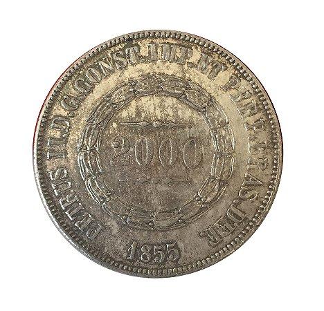 Moeda Antiga do Brasil 2000 Réis 1855