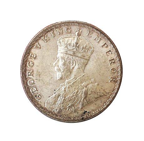 Moeda Antiga da Índia Britânica 1 Rupee 1916
