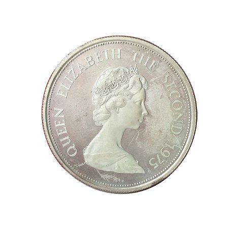 Moeda Antiga de Mauritius 25 Rupees 1975