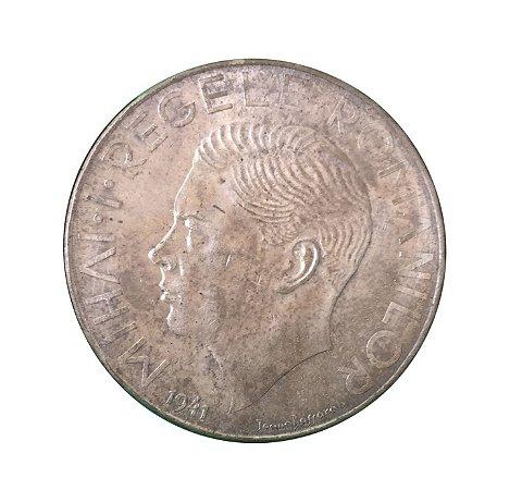 Moeda Antiga da Romênia 500 Lei 1941