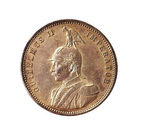 Moeda Antiga da África Alemã uma Rupia 1890