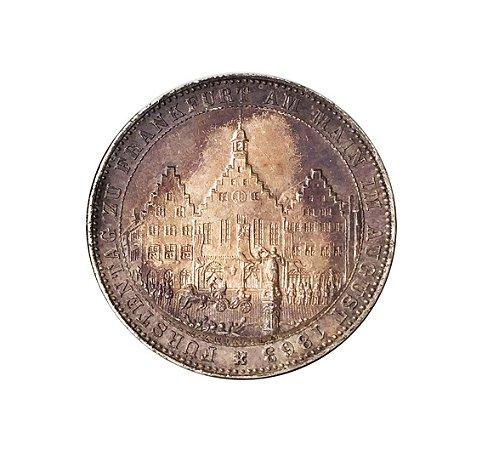 Moeda Antiga da Alemanha - Frankfurt - Thaler 1863