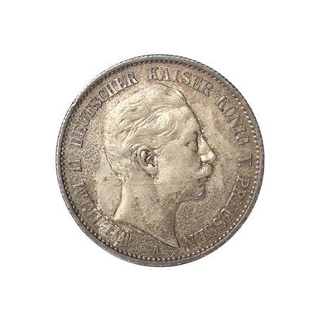 Moeda Antiga da Alemanha - Prússia - Zwei Mark (2 Mark) 1896 A