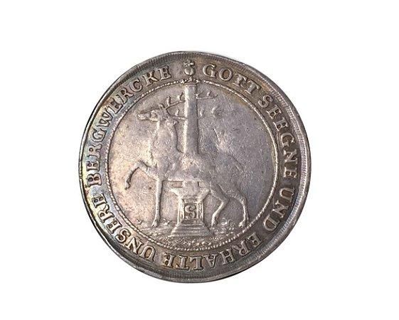 Moeda Antiga dos Estados Alemães - Stolberg-Stolberg - 1/3 Thaler (1/2 Gulden) 1726 IIG