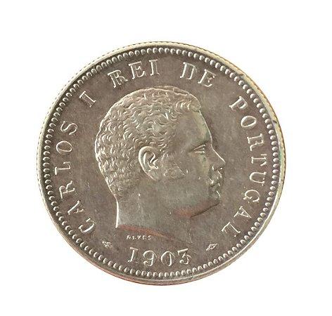 Moeda Antiga de Portugal 200 Réis 1903