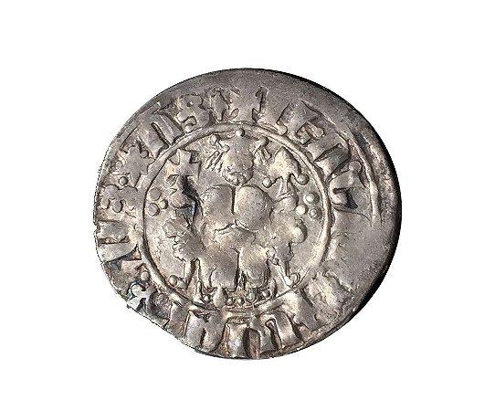 Moeda Antiga da Armênia Levon I 1198-1219
