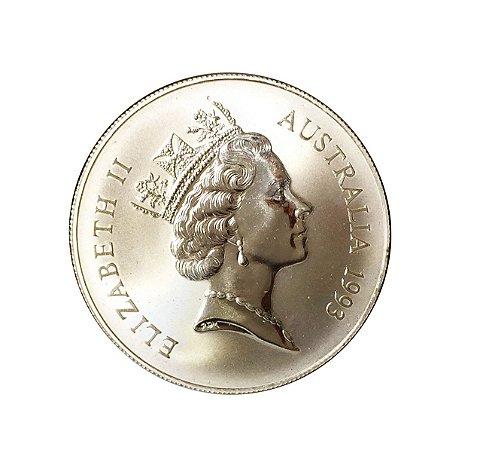 Moeda Antiga da Austrália $1 1993 C