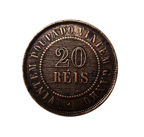 Moeda Antiga do Brasil 20 Réis 1908