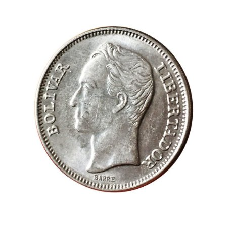 Moeda Antiga da Venezuela 1 Bolivar 1967