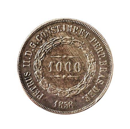 Moeda Antiga do Brasil 1000 Réis 1858