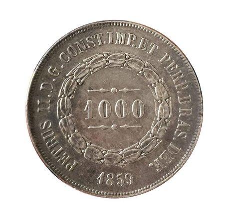 Moeda Antiga do Brasil 1000 Réis 1859