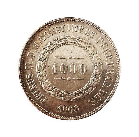 Moeda Antiga do Brasil 1000 Réis 1860