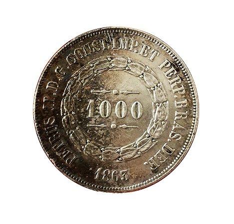 Moeda Antiga do Brasil 1000 Réis 1863