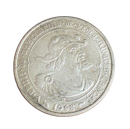 Moeda Antiga de Portugal 50 Escudos 1968 - V Centenário do Nascimento de Pedro Álvares Cabral