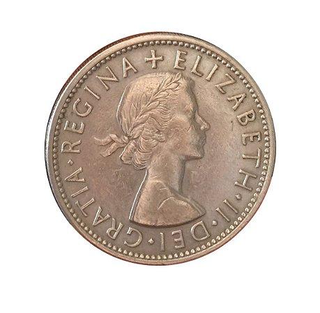 Moeda Antiga da Inglaterra Two Shillings (Florin) 1955