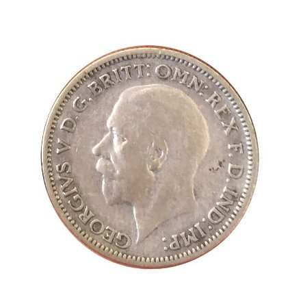 Moeda Antiga da Inglaterra Six Pence 1936