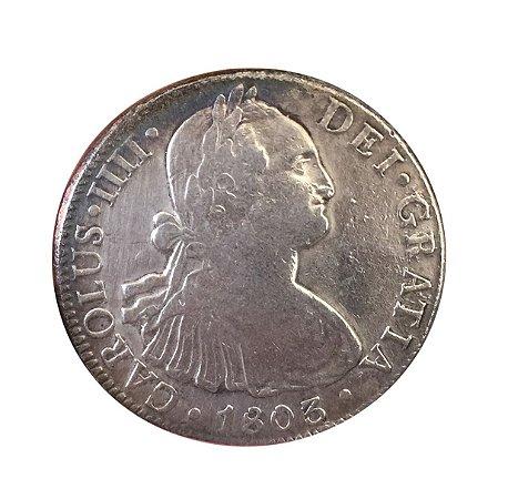 Moeda Antiga do México 8 Reales 1803 FT