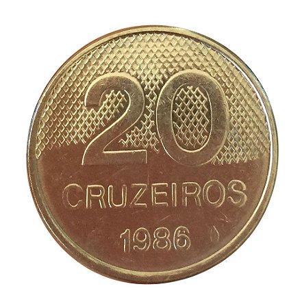 Moeda Antiga do Brasil 20 Cruzeiros 1986 - Igreja