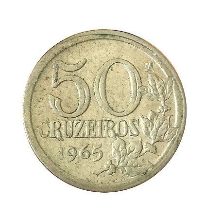 Moeda Antiga do Brasil 50 Cruzeiros 1965