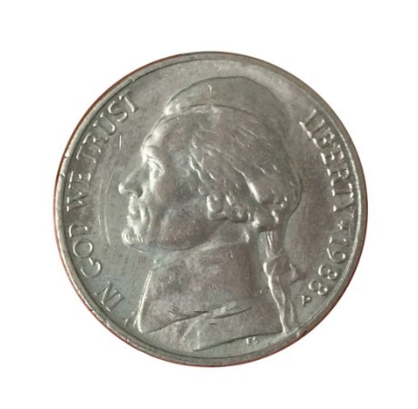 Moeda Antiga dos Estados Unidos Five Cents 1988 P - Jefferson Nickel