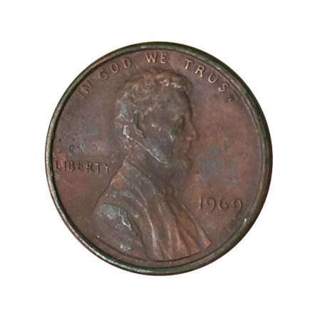 Moeda Antiga dos Estados Unidos One Cent 1969 - Lincoln