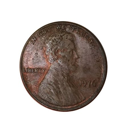 Moeda Antiga dos Estados Unidos One Cent 1976 - Lincoln