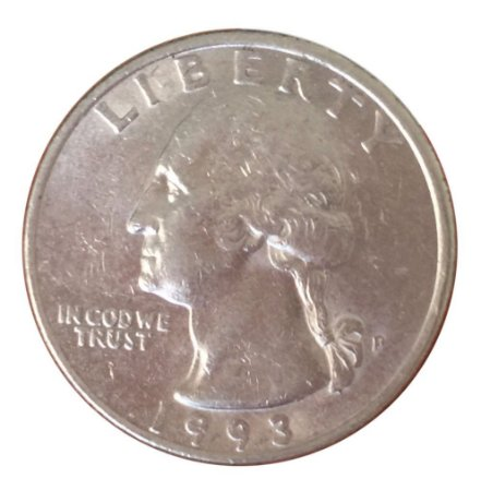 Moeda Antiga dos Estados Unidos Washington Quarter 1993 P