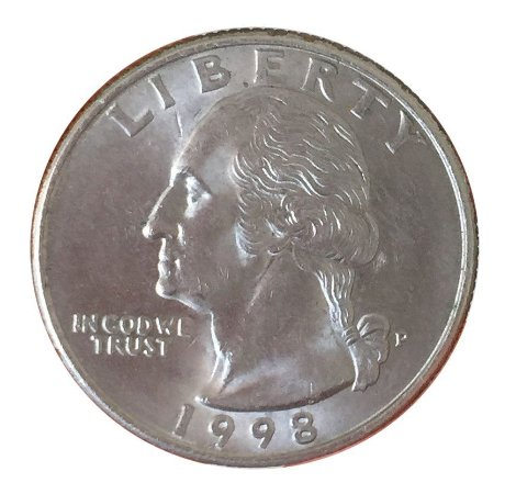 Moeda Antiga dos Estados Unidos Washington Quarter 1998 P