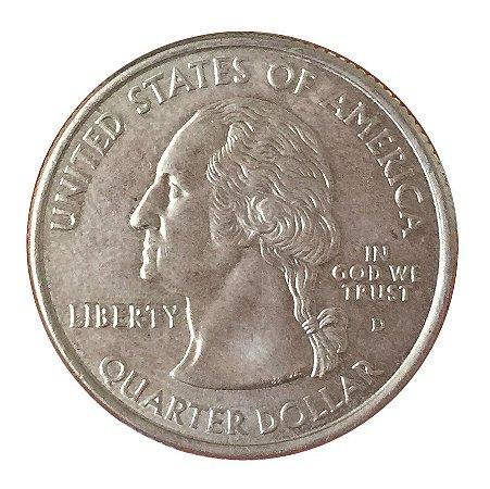Moeda Antiga dos Estados Unidos Washington Quarter 2000 D - Virginia