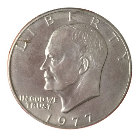 Moeda Antiga dos Estados Unidos Eisenhower Dollar 1977