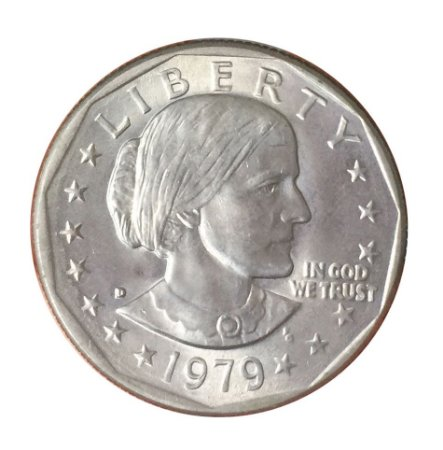 Moeda Antiga dos Estados Unidos $1 1979 D - Susan B. Anthony