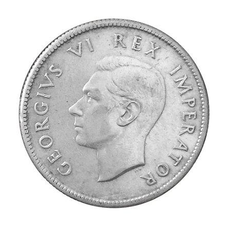 Moeda Antiga da África do Sul 2 Shilings 1938
