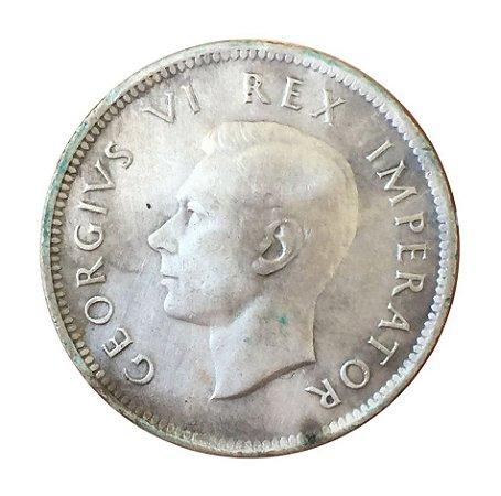 Moeda Antiga da África do Sul Shiling 1942